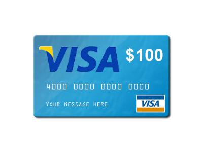 $100 visa gift card png  Giveaway a $100 Visa